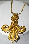 "MBA #41E-275  ""Trifari Goldtone Large Pendant With 18"" Chain"""