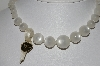 "MBA #41E-263   ""Richelieu Satinore Moonstone Acrylic Bead Necklace"""