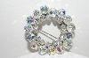 "+MBA #41E-232   ""Vintage Silvertone AB Crystal Cluster Pin"""