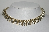 "MBA #E43-002  ""Lisner Goldtone Clear Rhinestone Fancy Necklace"""