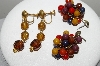 "MBA #E43-139  ""Lot Of 2 Pairs Of Vintage Acrylic Earrings"""
