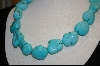 "**  29"" Blue Turquoise Necklace"