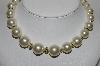 "MBA #E44-021   ""Vintage Faux Pearl Bead Necklace"""
