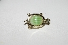 "**MBA #E44-195   ""Vintage Goldtone Small Glass Stone Turtle Pin"""