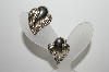 "+MBA #E44-039   ""Vintage Silver Plated Fancy Clip On Earrings"""