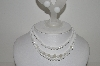 "MBA #E44-164   ""Made In Japan White Milk Glass Necklace & Matching Earrings Set"""