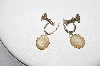 "+MBA #E44-119   ""Vintage Gold Filled Small Hand Carved Shell Cameo Earrings"""