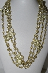 "**MBA #E44-275    ""Set Of 2 Faceted Lucite Yellow Bead Necklaces"""