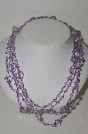 "**MBA #E44-261   ""Set Of 2 Faceted Lavender Lucite Bead Necklaces"""
