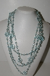 "MBA #E44-271    ""Set Of 2 Faceted Light Blue Lucite Bead Necklaces"""