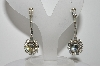 "MBA #E45-037   ""Vintage Silvertone Clear Crystal Rhinestone Fancy Drop Style Earrings"""
