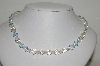 "MBA #E45-077   ""Vintage AB Crystal Bead Single Strand Necklace"""