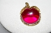 "MBA #E46-088   ""Sarah Coventry Goldtone Acrylic Apple Pin"""