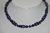 "MBA #E46-015   ""Vintage Blue Glass Bead Necklace"""