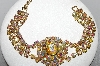 "MBA #E47-111   ""Tammey Jewel Gold Tone AB Crystal Fancy Bracelet"""