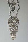 "MBA #E47-057  ""Stunning 2 Layer Clear Crystal Rhinestone Necklace"""
