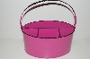 "**MBA #E47-163   ""Pink & Black Enamel Untensil Holder"""