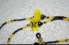 Bumble Bees With Black & Yellow Glass Beads