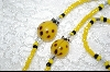 Yellow Lady Bugs With Yellow, Black & Clear Glass Beads
