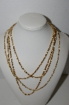 "MBA #91-039   ""Vintage Gold Plated Set Of 4 Chains"""