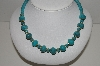 "MBA #91-073   ""Vintage Turquoise Colored Acrylic Bead Necklace"""