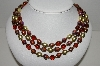 "MBA #91-084   ""Vintage Multi Colored Acrylic Bead Necklace"""