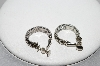 "+MBA #91-025   ""Vintage Silvertone Clip/Screw Back Combo Hoop Earrings"""
