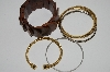 "MBA #91-107   ""Vintage Lot Of 1 Wooden & 2 Metal Bangle Bracelets"""