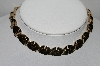 "MBA #91-218   ""Trifari Pat Pend Gold Tone Fancy Necklace"""