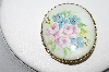 "+MBA #91-010   ""Vintage Hand Painted Porcelain  Rose Pin"""
