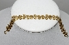 "MBA #91-022   ""Vintage Gold Plated Fancy Swirl Style Bracelet"""