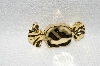 "**MBA #E48-121   ""Vintage Gold Plated Wraped Candy Pin"""