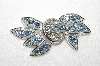 "+MBA #E48-042   ""Weiss Silvertone Blue & Clear Crystal Rhinestone Pin"""