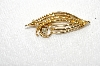 "**MBA #E48-183   ""intage Gold Tone Faux Pearl Pin"""