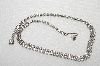 "MBA #E49-153   ""Vintage Silvertone 2 Row Center Clear Crystal Rhinestone Choker"""