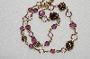 "MBA #E49-140   ""Vintage Austrian Crystal Purple & Lavender  Crystal Necklace"""