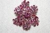 "**MBA #E50-061   ""Made In Austria Two Shades Of Pink Crystal Rhinestone Brooch"""
