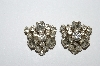 "MBA #E50-313   ""Made In Austria Clear Crystal Rhinestone Clip On Earrings"""