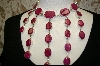 **  Large Oval Stoned Ruby Necklace