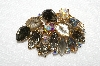 "MBA #E52-066   ""Vintage Juliana  Art Glass Stone & AB Crystal Rhinestone Brooch"""