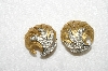 "MBA #E53-164   ""Vintage Two Tone Clear Crystal Rhinestone Clip On Earrings"""