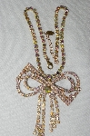 "**MBA #53-036   ""Lilien Large & Fancy AB Crystal Rhinestone Bow Necklace"""