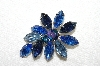 "+MBA #E53-030   ""Weiss Blue & AB Crystal Rhinestone Pin & Earrings Set"""