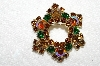 "+MBA #E53-089   ""Weiss Gold Tone Multi Colored Crystal Rhinestone Pin"""