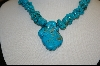 ** Blue Turquoise Nuggett Necklace