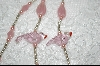 Clear Pink Lamp Work Glass Birds