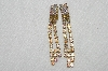 "MBA #E53-042   ""Lilien Gold Tone AB Crystal Rhinestone Clip On Earrings"""