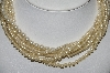 "MBA #E51-093   ""Vintage 7 Row Faux Glass Pearl Necklace"""