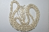 "MBA #E51-085   ""Vintage Woven Faux Pearl & Crystal Bead Necklace"""