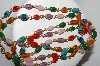 "MBA #E51-186   ""Vintage Multi Colored Glass Bead Necklace"""